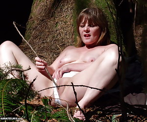 Very cool image set I had taken while i was deep into the rain forest where I live in Canada.Naked and having fun along