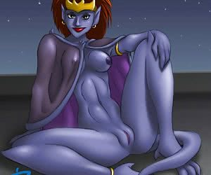 Dissolute cartoon ladies show off their booties and pussies