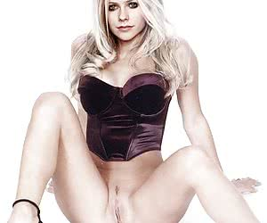 Avril Lavigne loves to show her titties... and guys like to cum on her face!