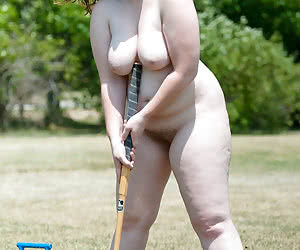 Chubby and naive young nudist girl