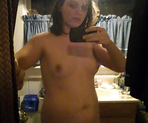 Fat girls shy to show their small tits on a self photos