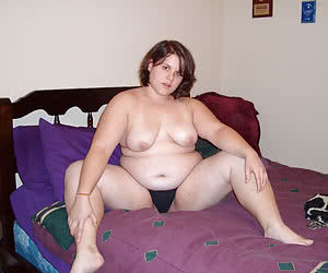 Fat virgins shy to fully undress in front of camera