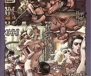 Fascinating orgy after sex comics' party