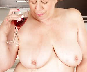 Hi Guys Here I am shooting in the Kitchen of Auntie Trishas apartment in Manchester she was feeling Hot  Horny after a f