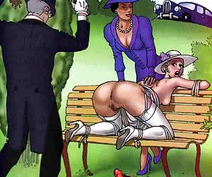 Girl gets a punishment in the comics `Birches Of Desire`