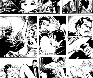 Glamour beauty in the comics `The Adventures Of Gwendoline`