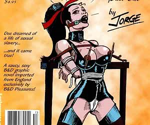 Slave-girl gets punishments in the comics `Dee`s Diary`