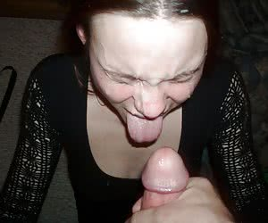 A busty chicks blowjob and facialized gall