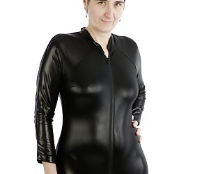 My Wetlook suit and heels.Fits together.But sense of images to give a special look.I show wish pictures cunt and rosette