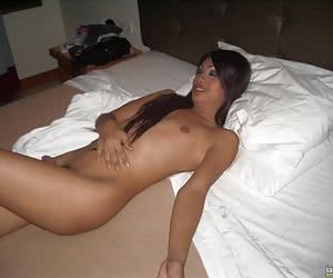 Shy t-girl gets an assful