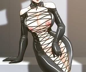 Enjoy staring at fascinating latex anime with drawn chicks posing in sexy latex uniforms and lingerie.