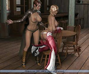 Latex lesbian BDSM actions with much spanking and submission