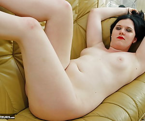 Mona Summers, nude horny young Dutch pornslut on high heels spreads her legs and starts playing with her pussy.