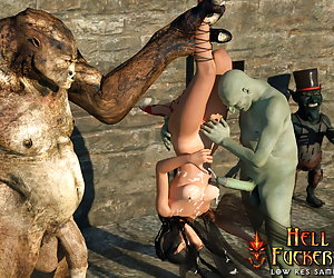 Curvy elven warrior fucked and humiliated
