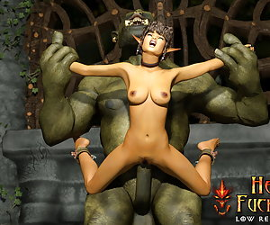 Sweet elf with big bum sold and used as fuck hole by orc on the Big Sale