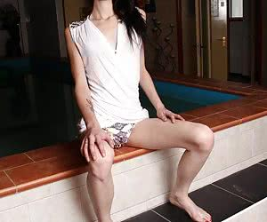 Thinspiration - Slim petite beauties and lanky leggy lovelies showing off their tight firm asses and pussies!