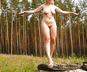 Hot nudists playing outside