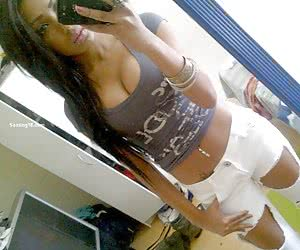 Girls next door with perfect tits posing nude at home