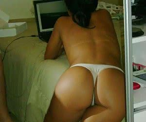 Sexy thongs make shy girlfriends feel more hot and horny