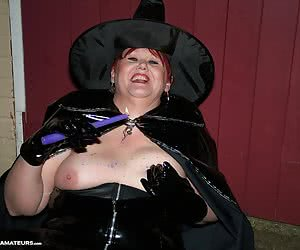 I am a naughty witch and I luv pouring hot candle wax on my boobs - hope you enjoy it too.