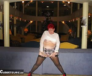 We went for a night out at a posh hotel, and you know me, I just have to flash my tits.