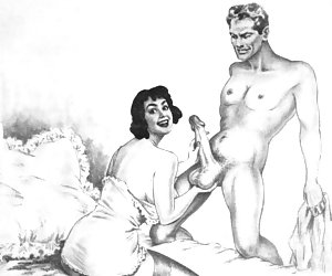 Amazing ancient art of hardcore retro porn drawings still excites its fans.