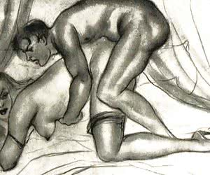 Beautiful and wild sex was described in these vintage porn drawings.