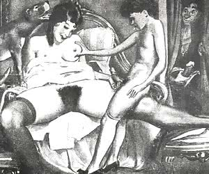 Fat female asses and their hairy pussies fulfill those vintage porn cartoons.