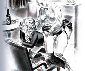Funny and hot sexual themes are described in these retro porn drawings.