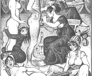 Gorgeous and beautiful women fuck in vintage porn cartoon.