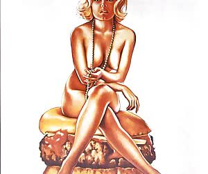 Hot and tempting ladies look onto you from ancient vintage sex cartoons.