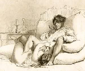 Lusty and kinky babes discover their hot anatomy in vintage sex cartoons.