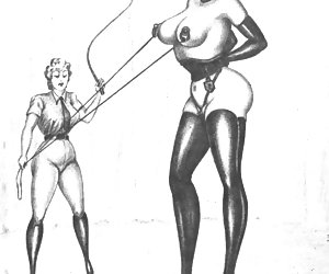 Old fashioned haired pussies and fat tits are widely presented in these retro porn drawings.