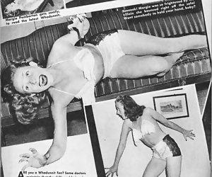 Girls from various magazines appear in vintage lingerie and look more than just hot and attractive