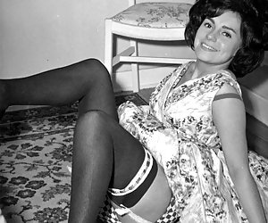 Playful chicks with pretty faces and sexy bodies become short of breath on posing in vintage lingerie