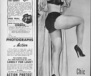 Real vintage lingerie pictures featuring timid gals show their neat bodies in old-fashioned underclothes