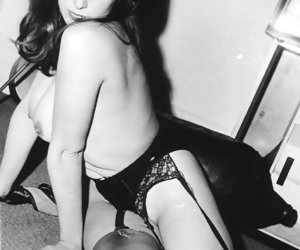 Steamy showoff in sexiest vintage lingerie is what each of these beauties performs in heat