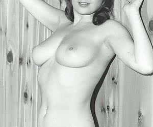 Without any hesitations stunning gals pose in retro lingerie and out of it right before the camera