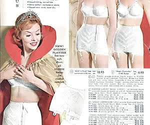 Wonderful pictures featuring gorgeous gals pose in their favorite vintage lingerie very willingly