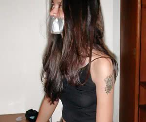Gagged And Taped Mouth
